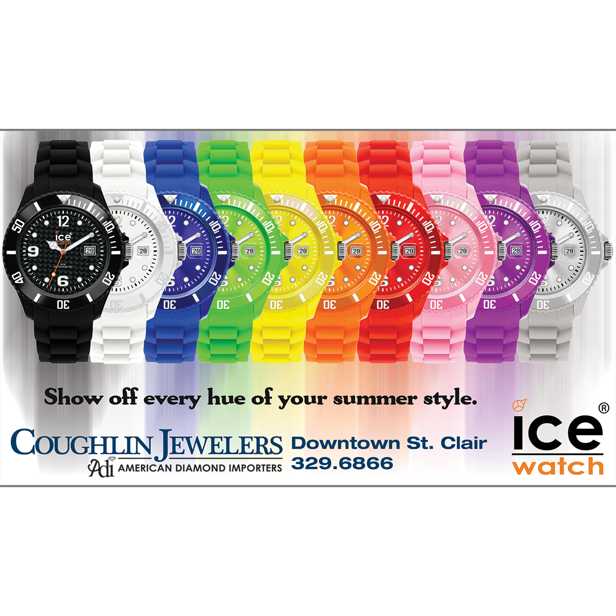 Coughlin Jewelers Ice Watch Ad