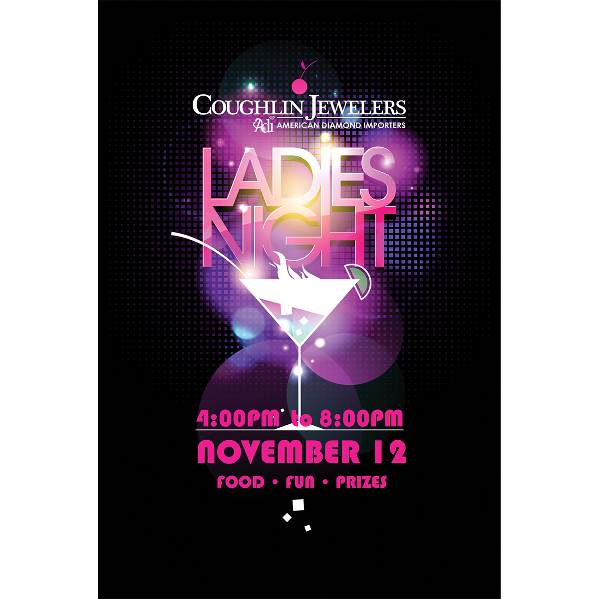 Coughlin Jewelers Ladies Night 2015 Postcard