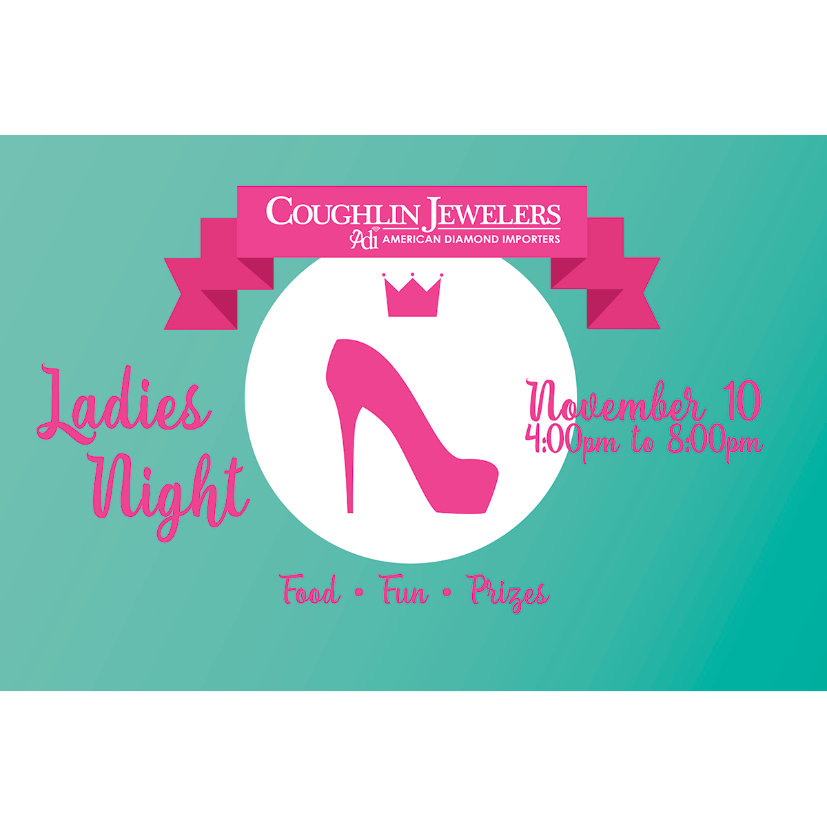 Coughlin Jewelers Ladies Night 2016 Postcard