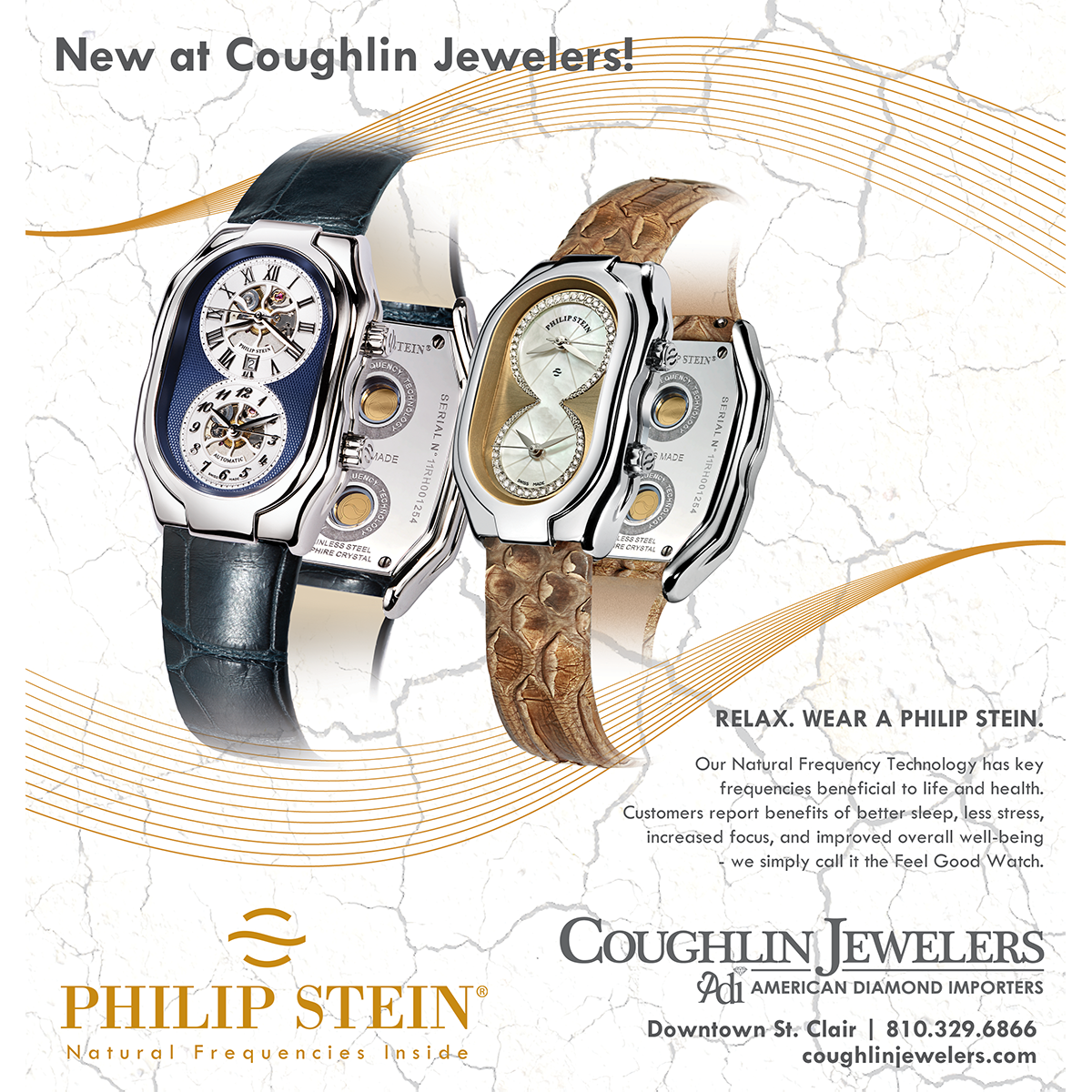 Coughlin Jewelers Philip Stein Print Ad